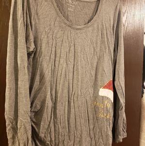 Maternity long sleeve christmas shirt size L
